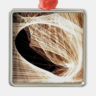 abstrakter Kunst-Wirbel - Abgrund Silbernes Ornament