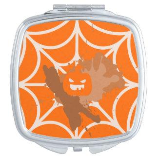 Abstrakter Kürbis-Quadrat-Vertrags-Spiegel Taschenspiegel