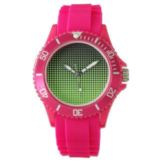 Abstrakter Retro grüner und schwarzer Armbanduhr