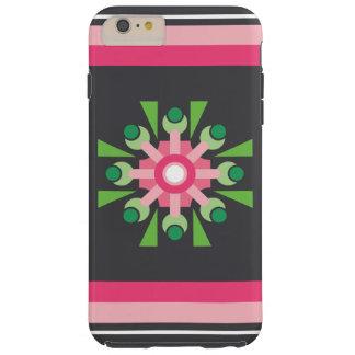 Abstrakter rosa Blumen-Fall Tough iPhone 6 Plus Hülle