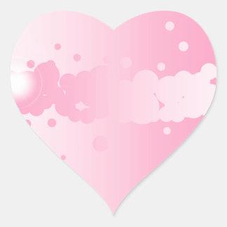 Abstrakter rosa Hintergrund Herz-Aufkleber