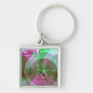 Abstrakter Stern-Schlüsselkette des Grunge-Ring-n Schlüsselanhänger