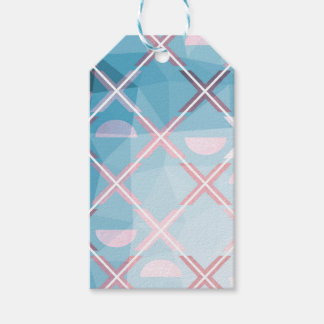 Abstrakter triangulate XOX Entwurf Geschenkanhänger