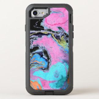 Abstrakter Watercolor-Strudel OtterBox Defender iPhone 8/7 Hülle