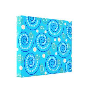 Abstrakter Wirbel auf Blau Gespannte Galerie Drucke