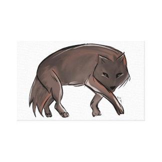 Abstrakter Wolf Leinwanddrucke