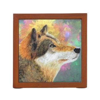 Abstrakter Wolf Stifthalter