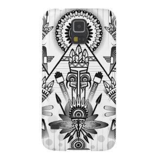 Abstraktes altes gebürtiges indisches Stammes- Galaxy S5 Hülle