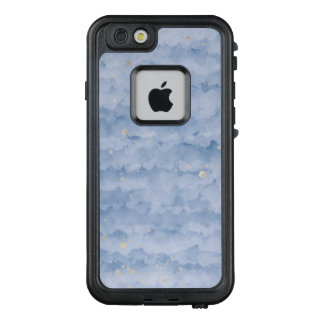 Abstraktes Blau mit silbernem Detail iPhone Fall LifeProof FRÄ' iPhone 6/6s Hülle