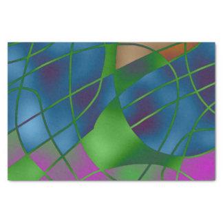 Abstraktes blaues Seidenpapier