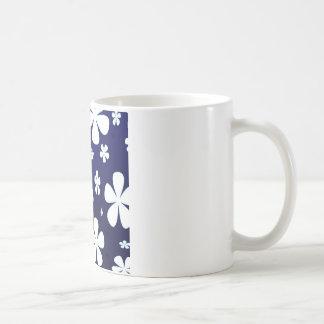 Abstraktes Blumen-Blumen-Muster Tasse
