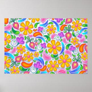 Abstraktes Blumenplakat Poster