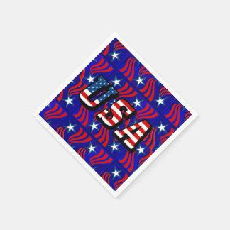 Abstraktes Flaggen-Muster mit Papierservietten