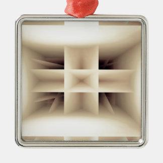 Abstraktes Formmuster Silbernes Ornament