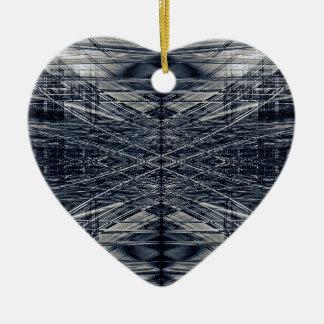 Abstraktes futuristisches Muster Keramik Herz-Ornament