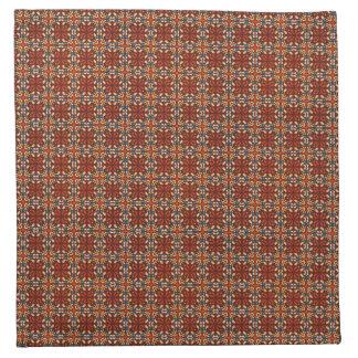 Abstraktes geometrisches retro nahtloses Muster Serviette