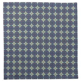 Abstraktes geometrisches retro nahtloses Muster Stoffserviette
