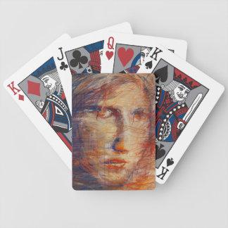 Abstraktes Gesicht Spielkarten