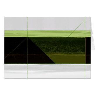 Abstraktes Grünes und Weiß Karte