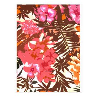 Abstraktes hawaiisches Muster Postkarte