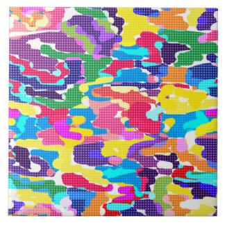 Abstraktes helles mehrfarbiges, abstrakt, hell, MU Keramikfliese