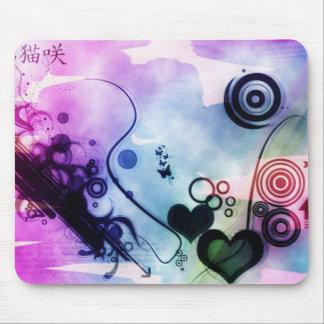 Abstraktes Herz Mousepads
