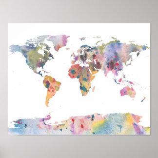 Weltkarten Poster auf Zazzle Österreich