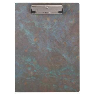 Abstraktes Kupfer Klemmbrett