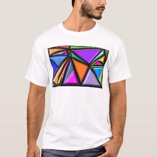 Abstraktes Mehrfarben T-Shirt