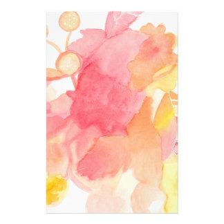Abstraktes mit Blumenstationäres Personalisierte Büropapiere