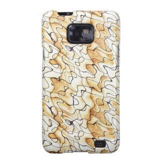 Abstraktes Muster des coolen orientalischen Schoko Samsung Galaxy S2 Hüllen