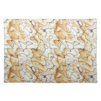 Abstraktes Muster des coolen orientalischen Schoko Tisch Set