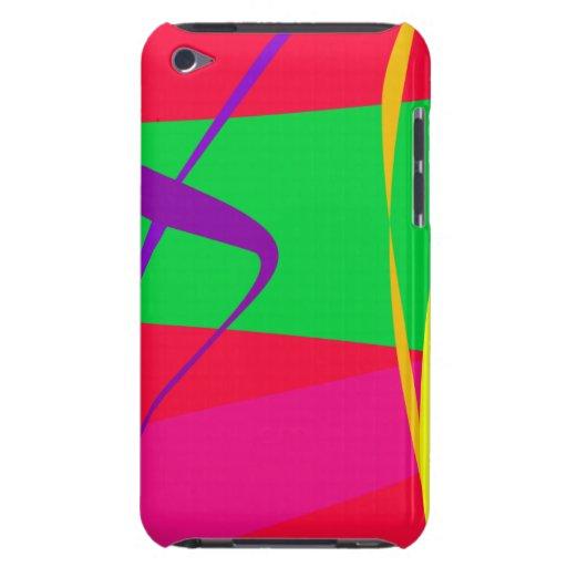 Abstraktes Muster-roter und grüner Kontrast iPod Touch Hülle