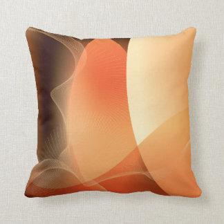 Abstraktes Orangen-und Brown-Muster Zierkissen
