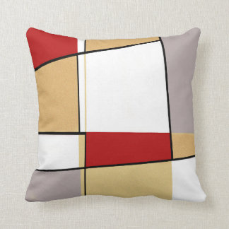 Abstraktes rotes Gold und Grau Kissen