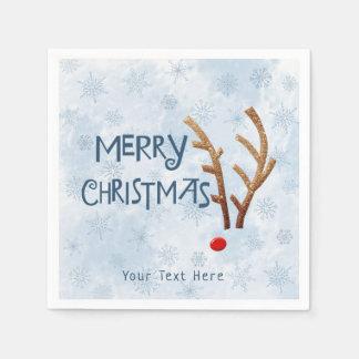 Abstraktes rotnasiges Ren - frohe Weihnachten Serviette