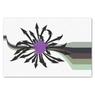 Abstraktes schwarzes Pfeil-Seidenpapier Seidenpapier