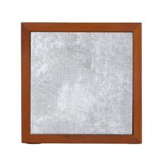 Abstraktes silbernes Papier Stifthalter