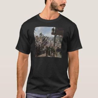 Abstraktes Stadt-Überleben T-Shirt