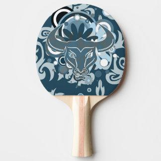 Abstraktes StierPing Pong Paddel Tischtennis Schläger