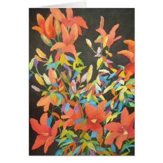 Abstraktes Tigerlilie notecard Karte