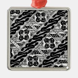 Abstraktes und verziertes klassisches Muster Silbernes Ornament