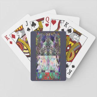 Abstraktes Weihnachten Pokerdeck