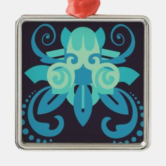 Abstraktion zwei Poseidon Silbernes Ornament
