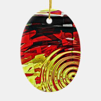 Abstraktionsverstand Ovales Keramik Ornament