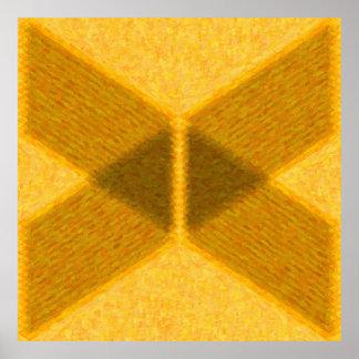 Abstrata geometrische vergoldet Malerei in - AB-00 Poster