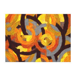 Abstrata Malerei in den Kreisen - AB-0009G Gespannter Galeriedruck