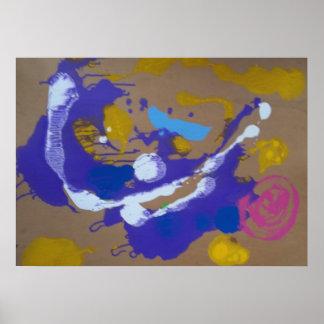 Abstrata. Malerei Poster