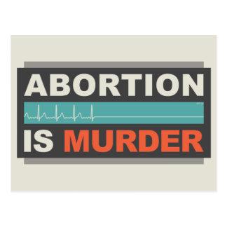 Abtreibung ist Mord Postkarte