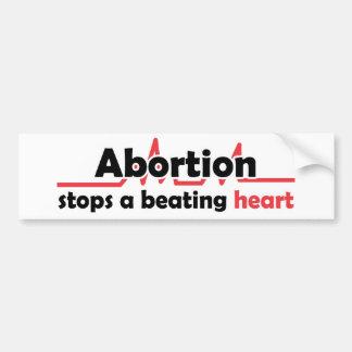 Abtreibung stoppt ein schlagendes Herz Autoaufkleber
